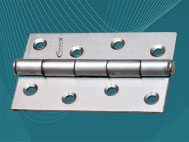 View SS 4x12 Heavy Door Hinges (100mm x 2.5mm)